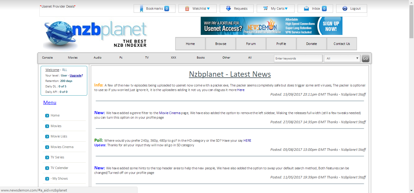 nzbplanet Home Page