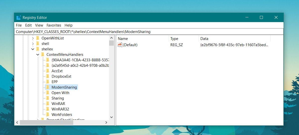 windows registry modernSharing
