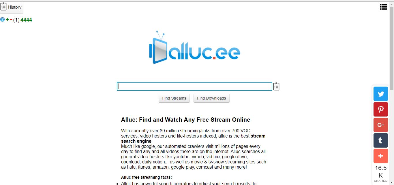 Alluc website