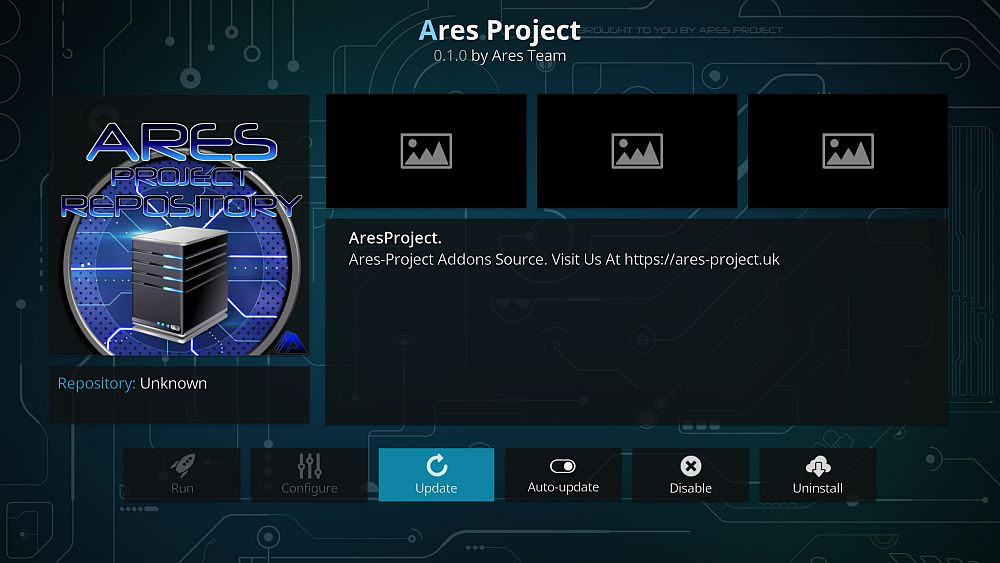 Ares Project add-on repository