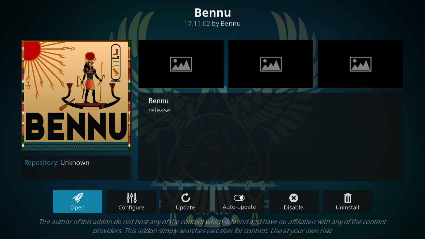 Bennu Add-on Info