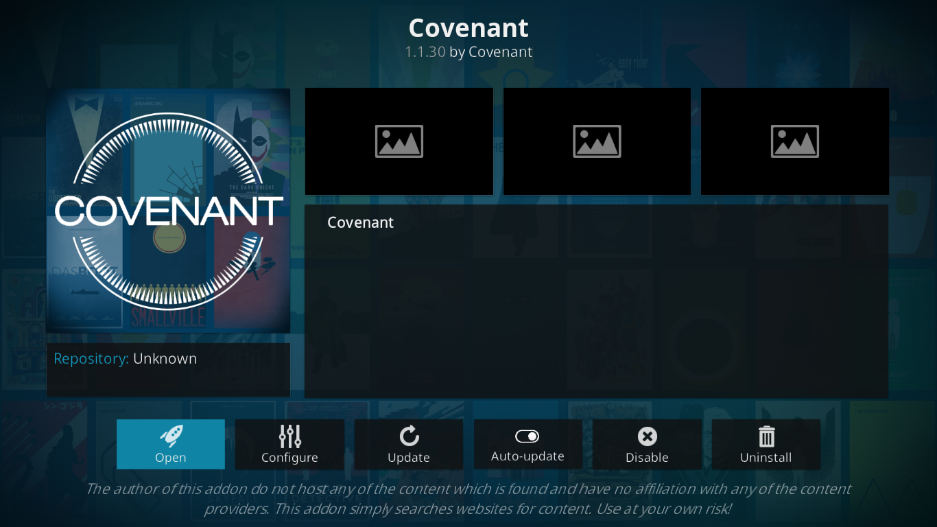 Covenant Add-on Info