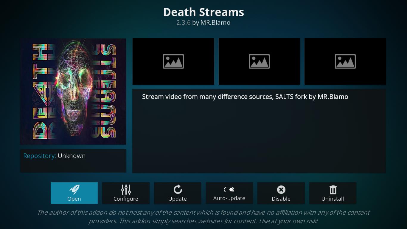 Death Streams Add-on Info