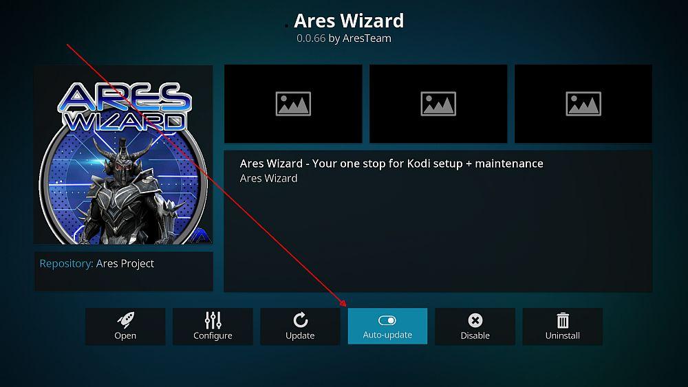 Disable auto update for Kodi addons