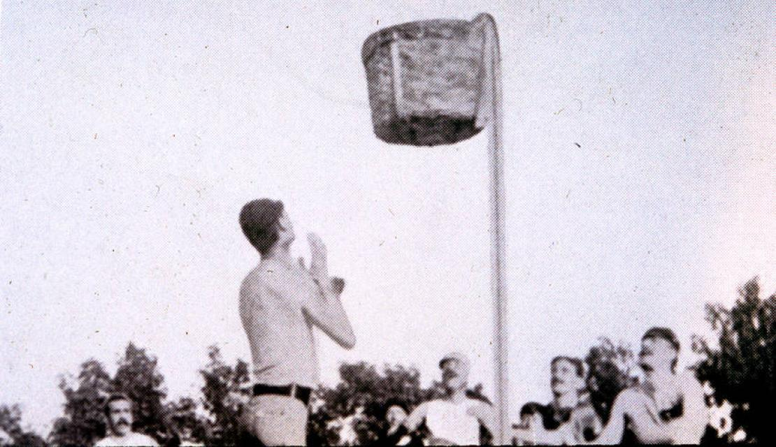 Early outdoor basketball game