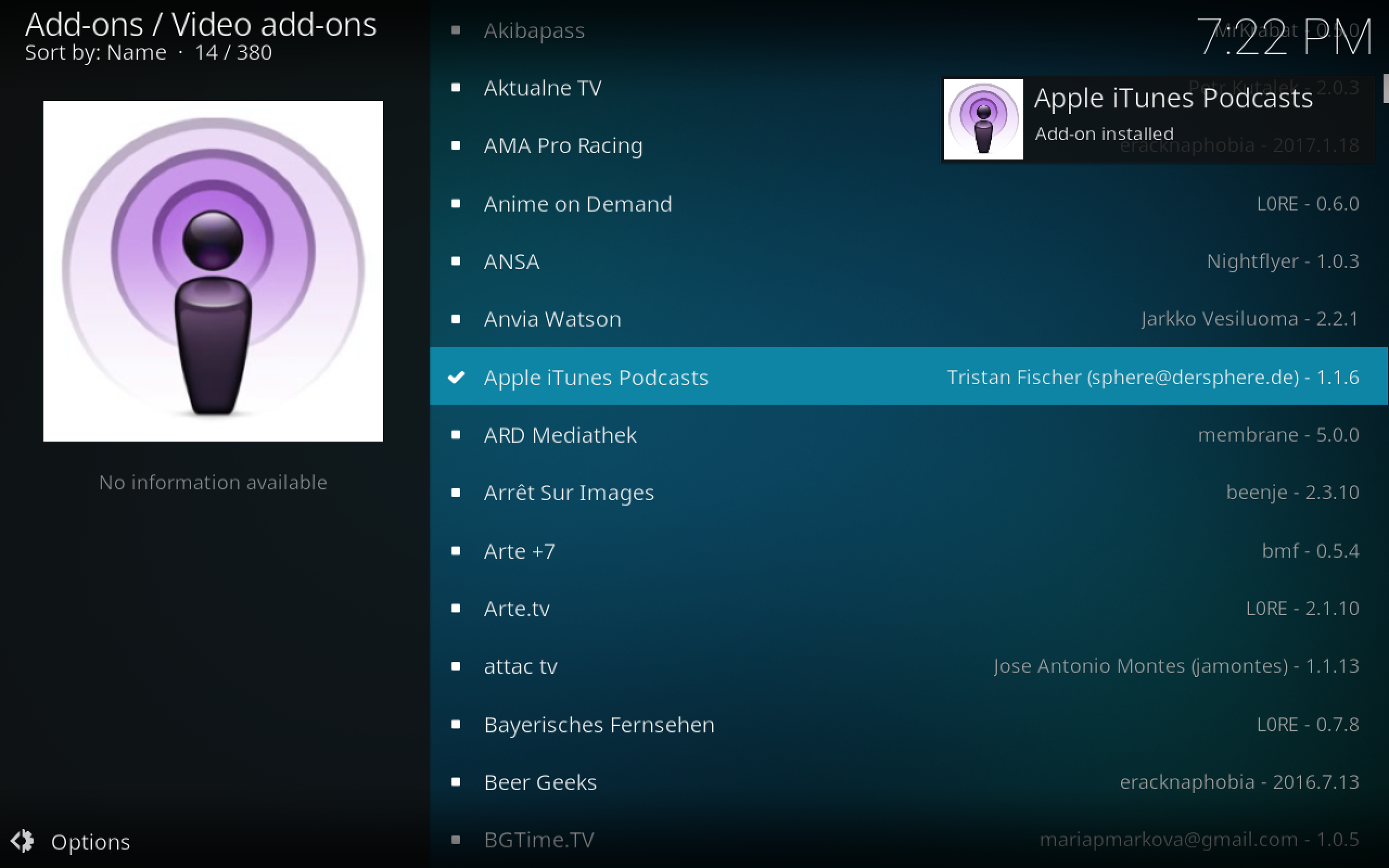 Listen to Podcasts On Kodi with the Apple iTunes Podcasts Add-on Install 2