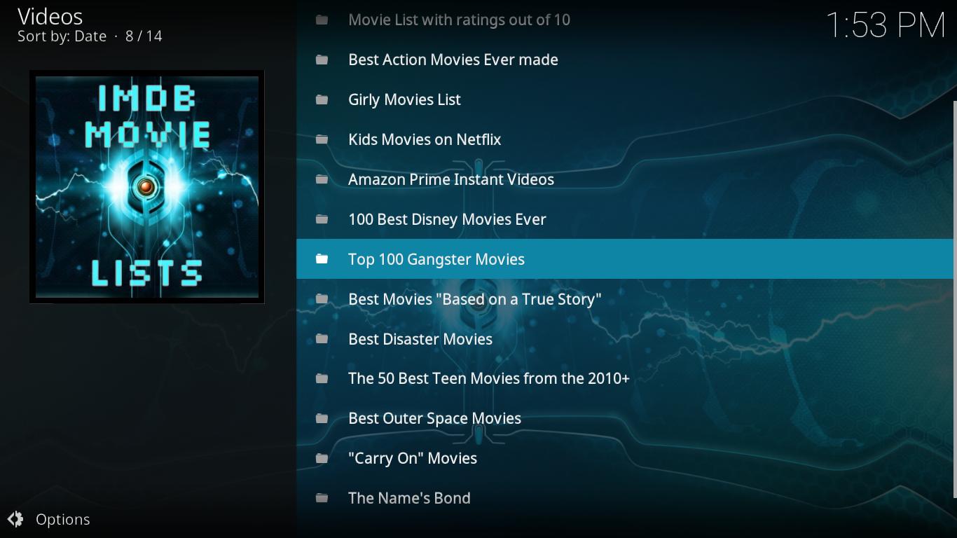 MYRIAD IMDB Movie Playlist