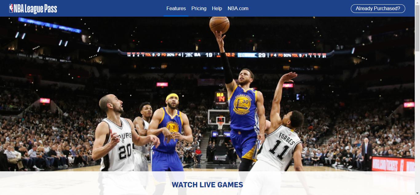 NBA League Pass Homepage