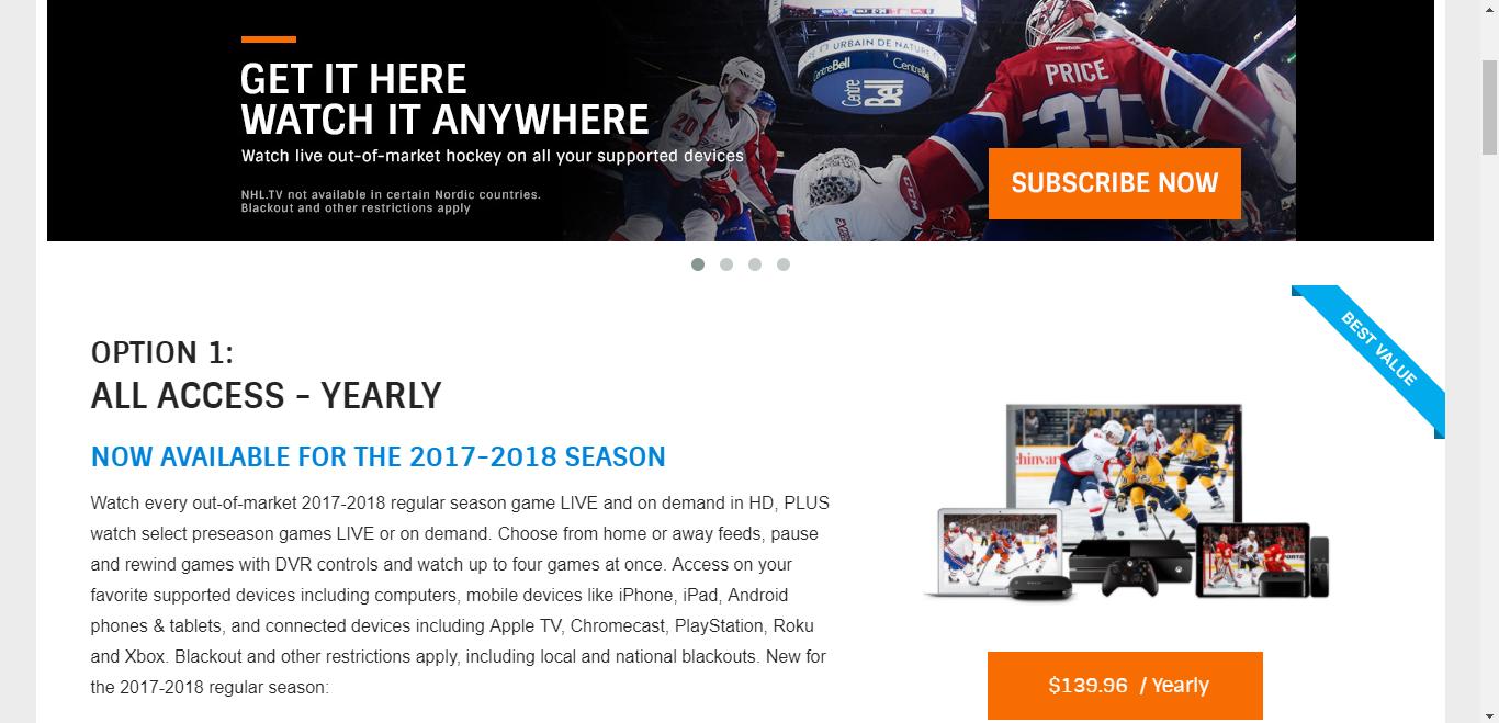 NHL Sub Site