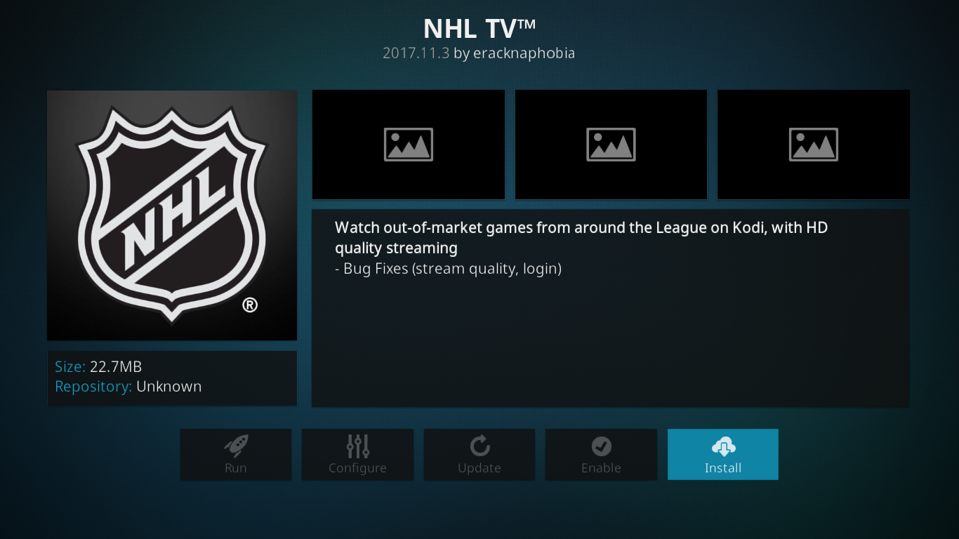 NHL TV Information