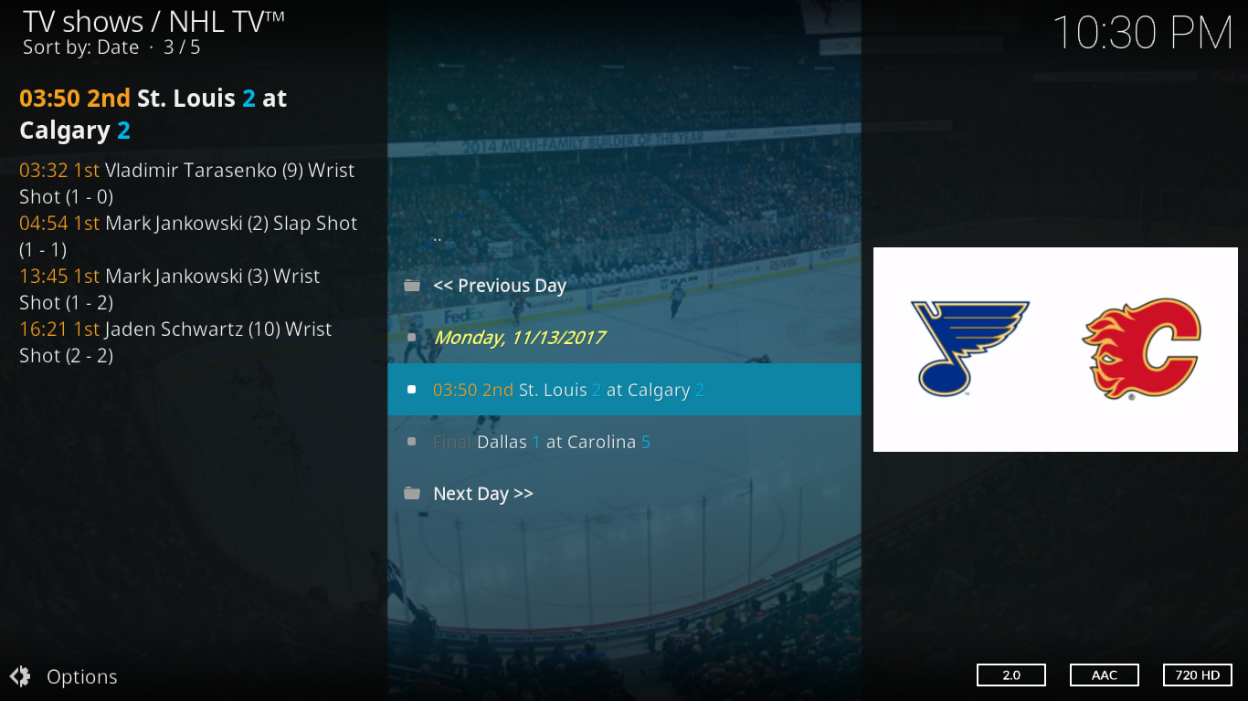 NHL TV Today's games