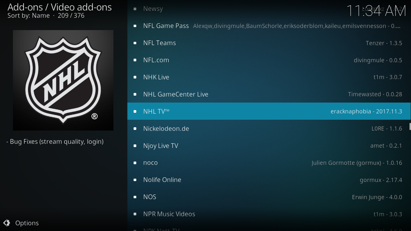 NHL.TV in Kodi Repo
