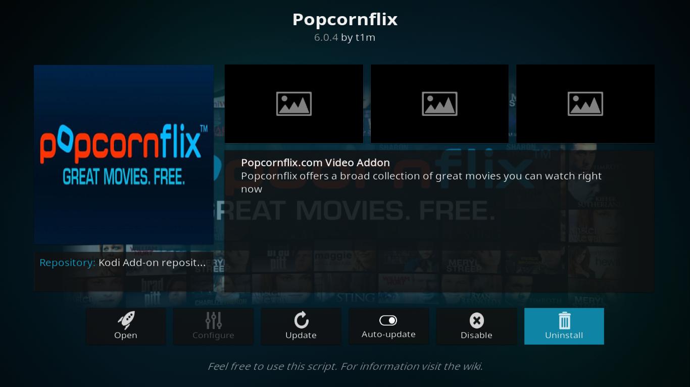 Popcornflix Add-on Info