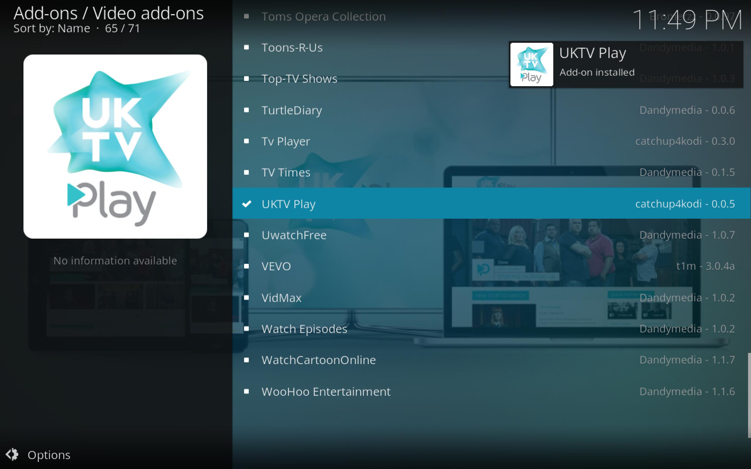 UKTV Play Installed