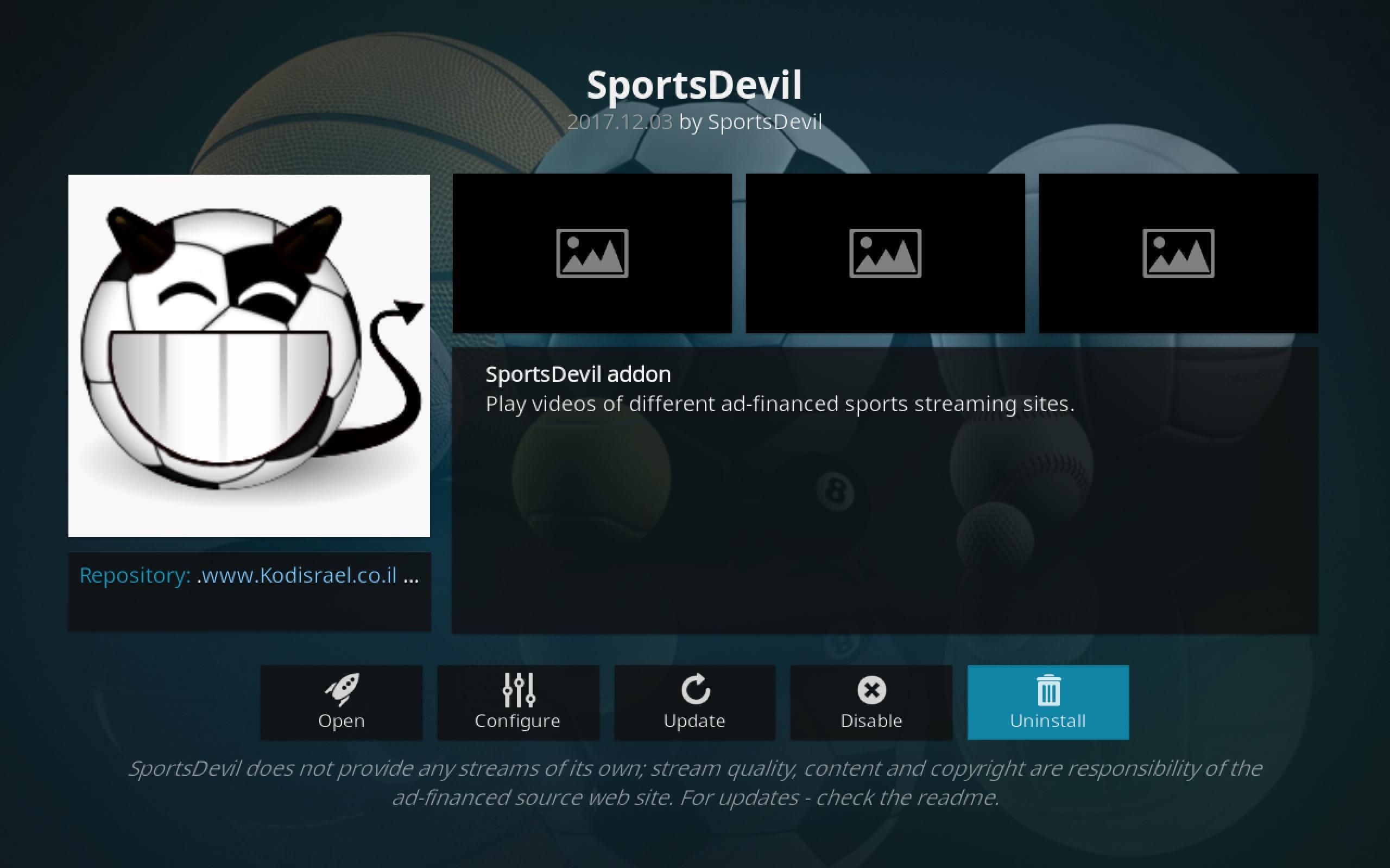 SportsDevil add-on