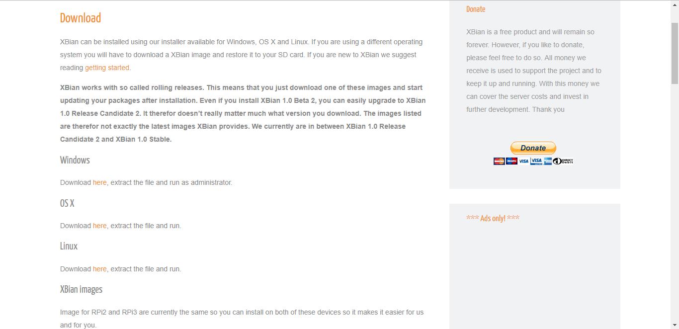 XBian Download Page