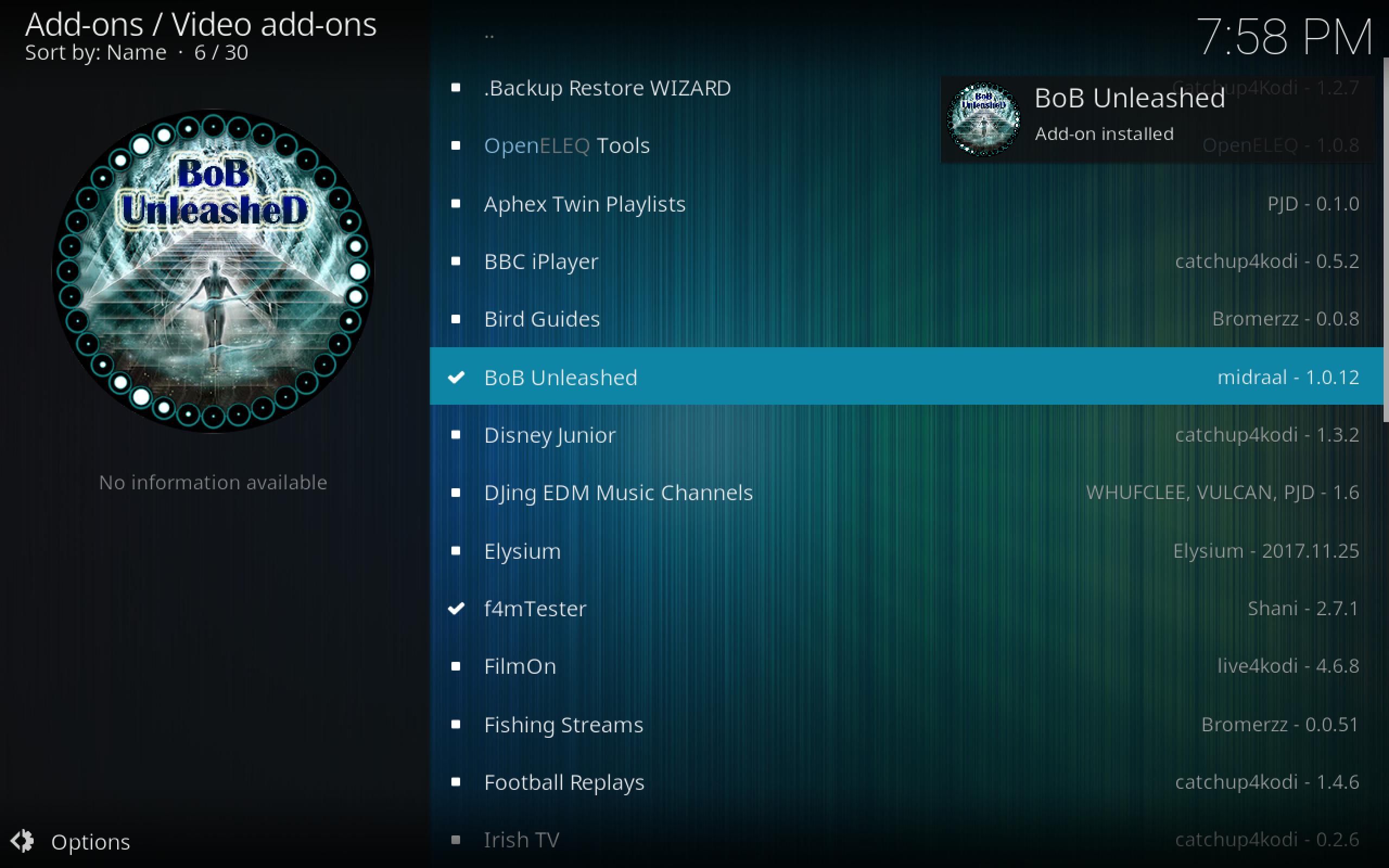 BoB Unleashed kodi add-on