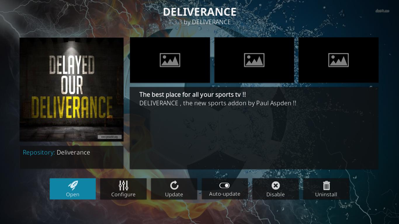 Deliverance Add-on Information