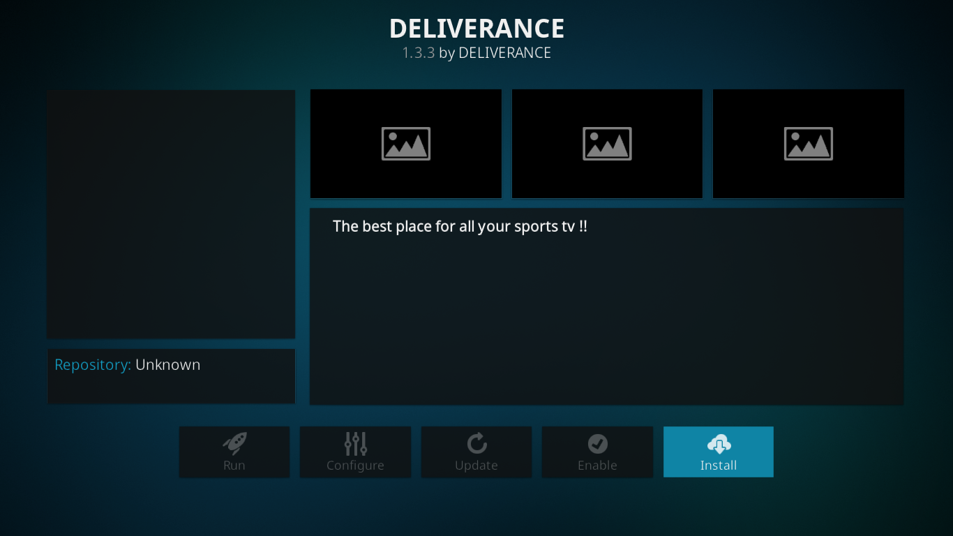 Deliverance add-on info