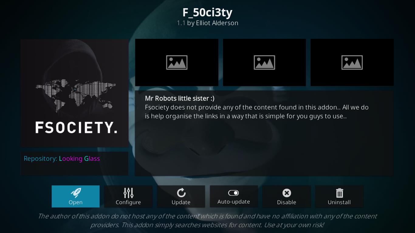 F_50ci3ty Information Screen