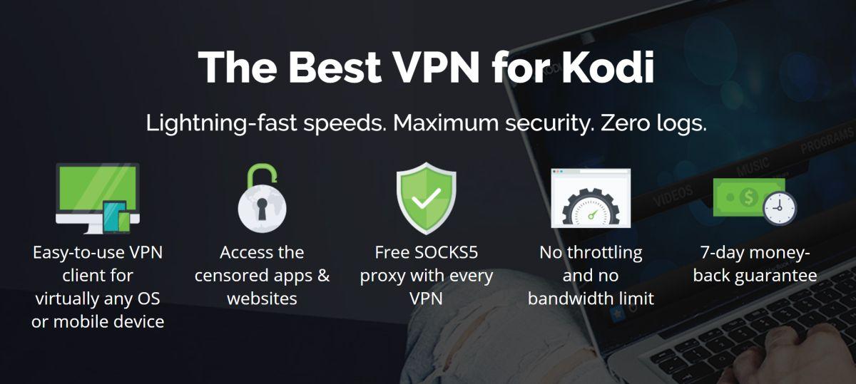 IPVanish - Best VPN for Kodi