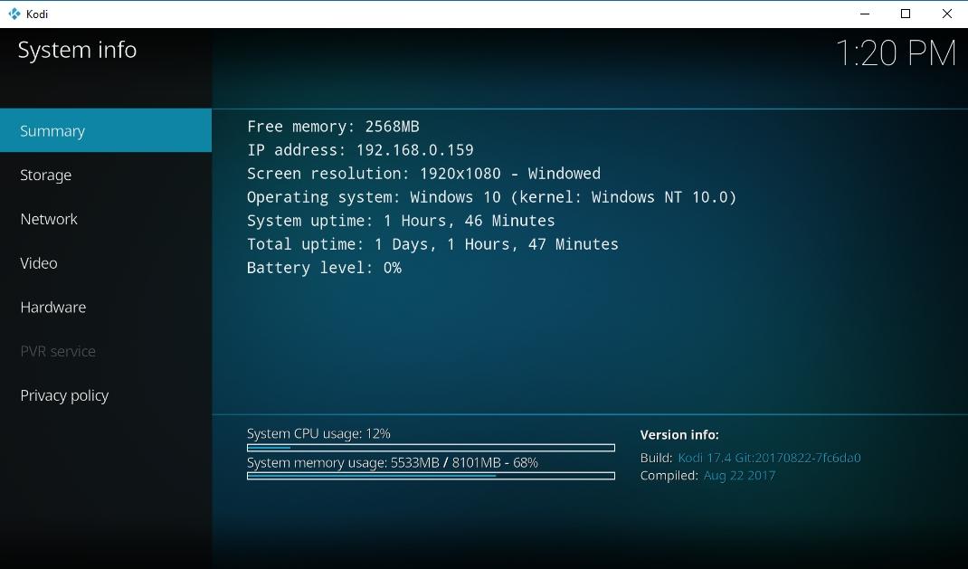 Install Kodi 176 - 2