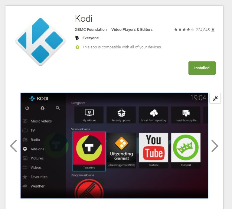 Kodi Android TV - screenshot 1