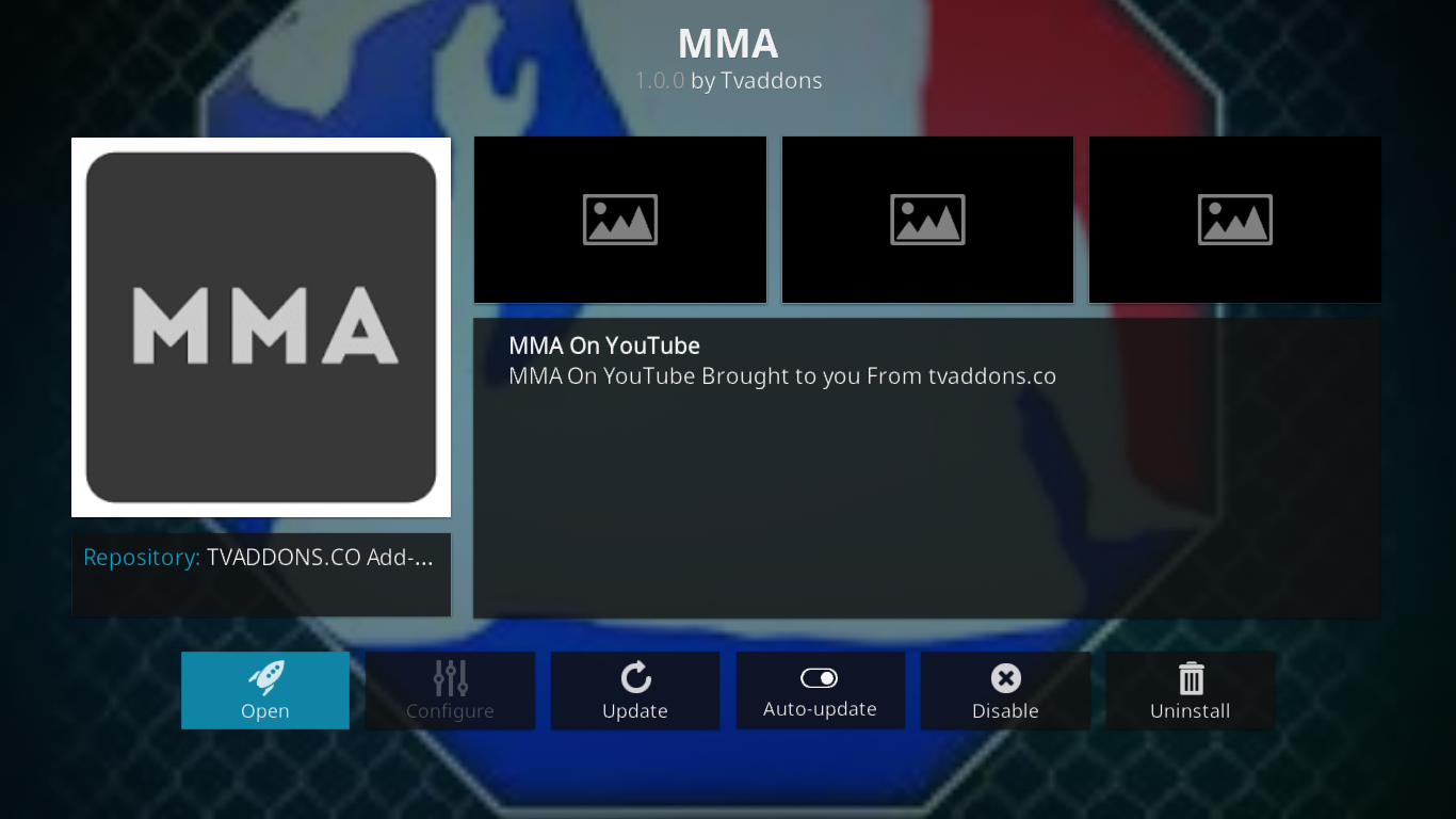 MMAStreams Add-on Info