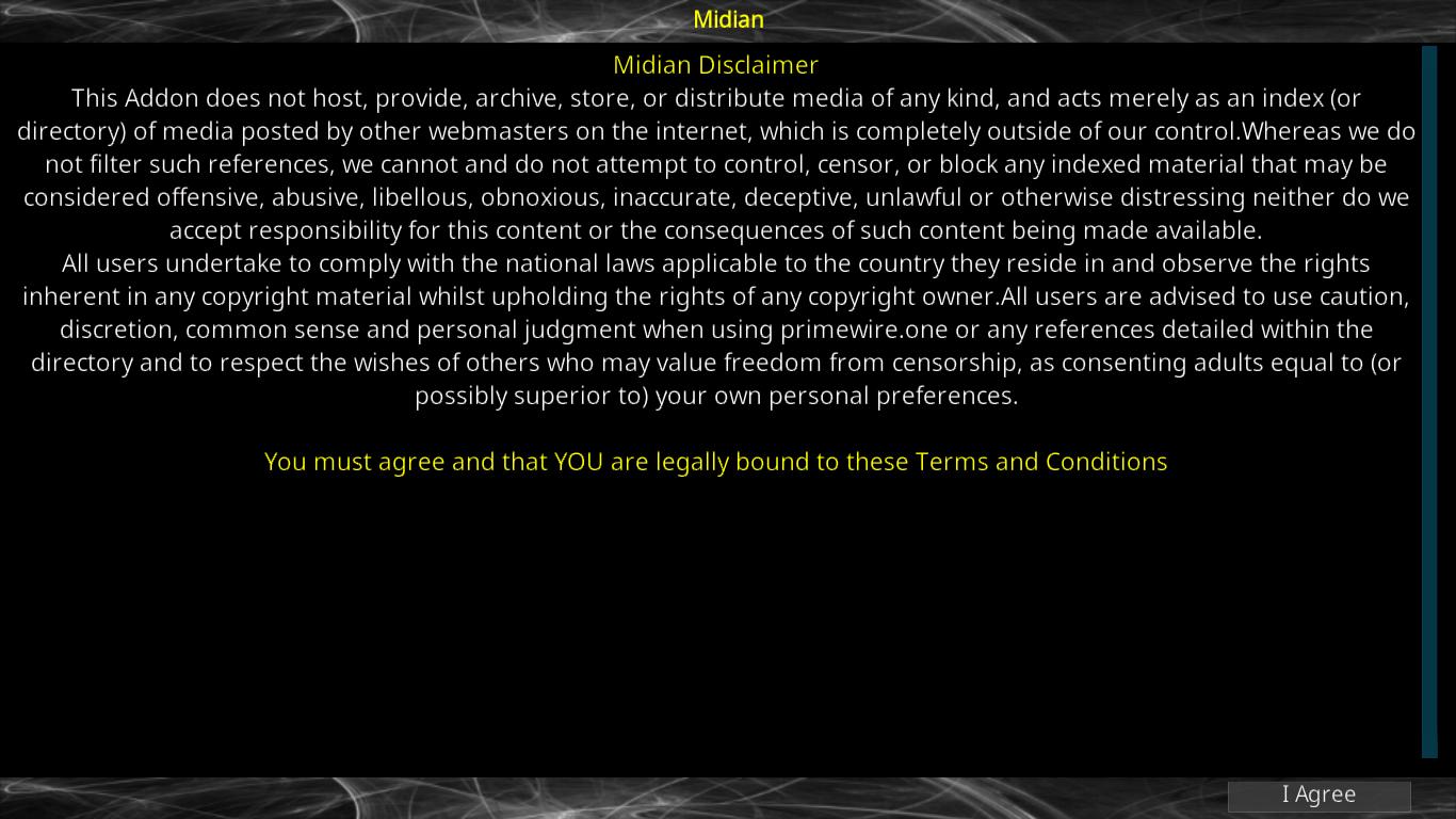 Midian Disclaimer