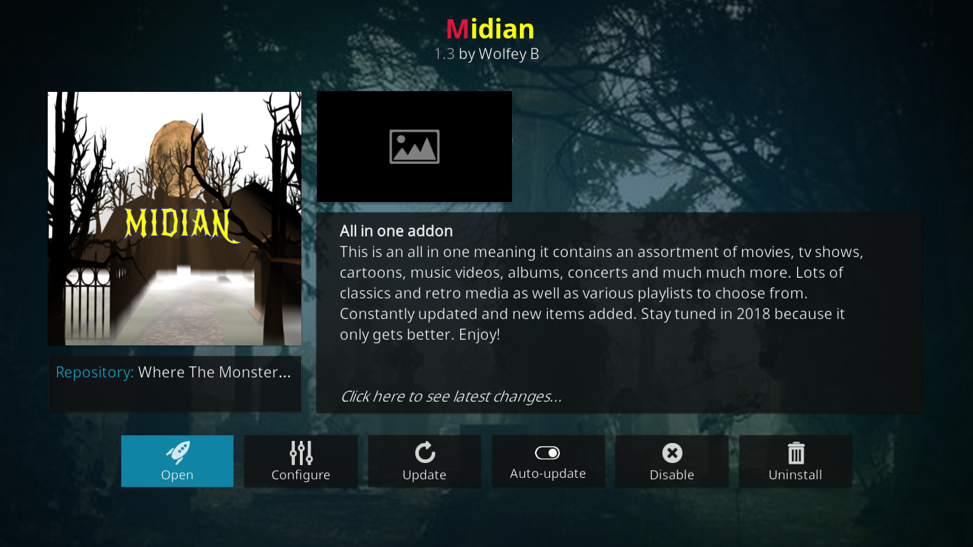 Midian Information Screen