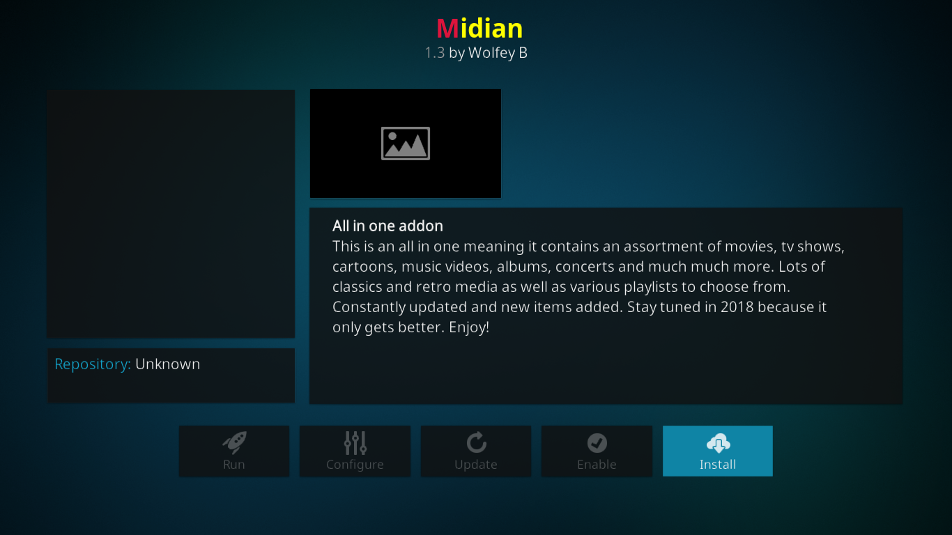 Midian Install Page