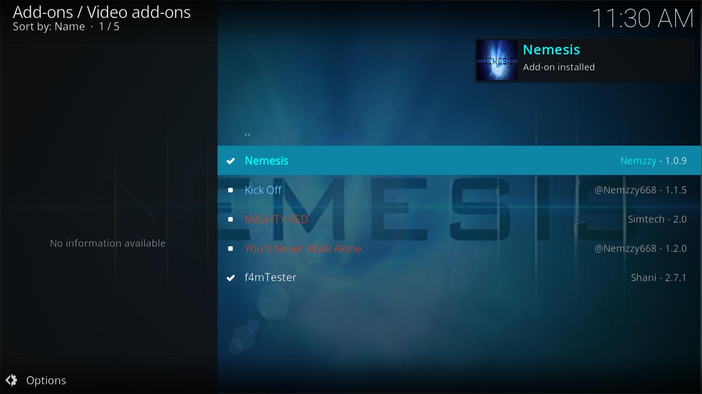 Nemesis Installation Confirmation