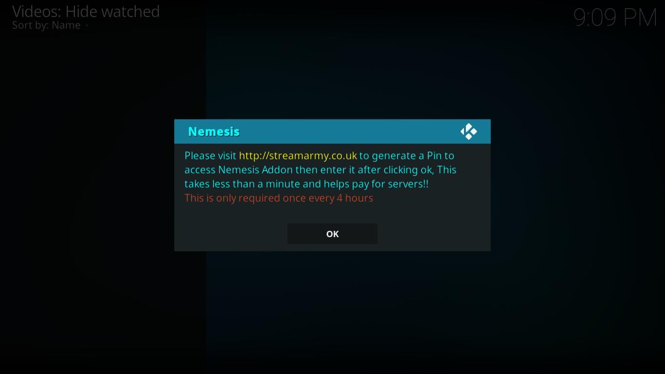Nemesis PIN Request