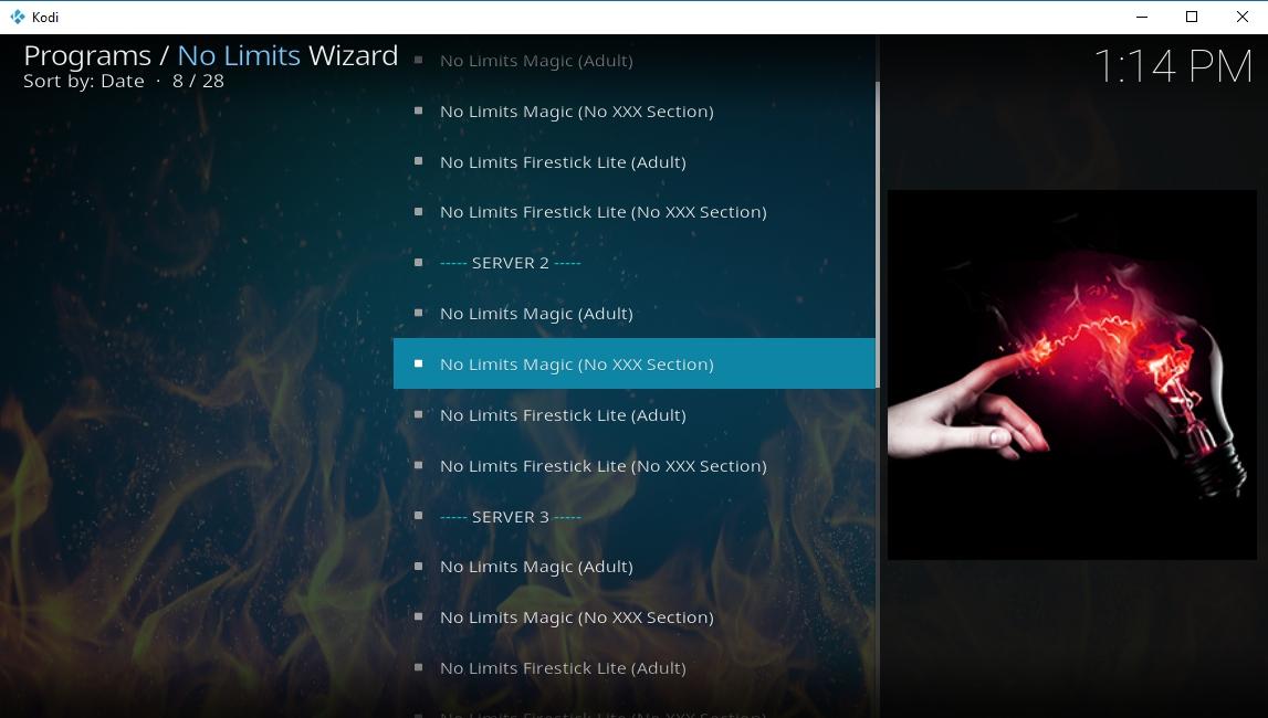 No Limits Magic - Getting the build screen - 2
