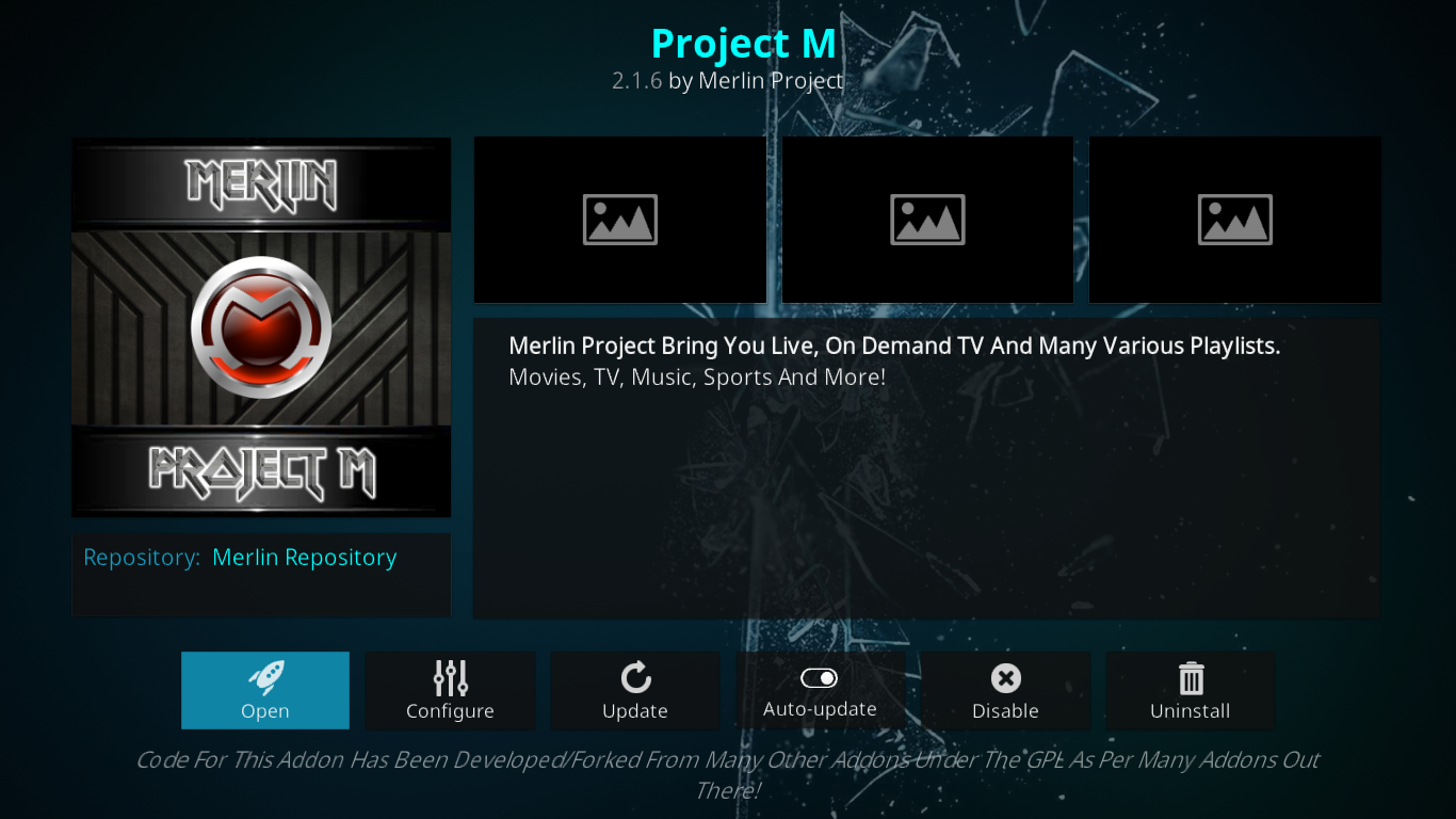 Project M Add-on Information