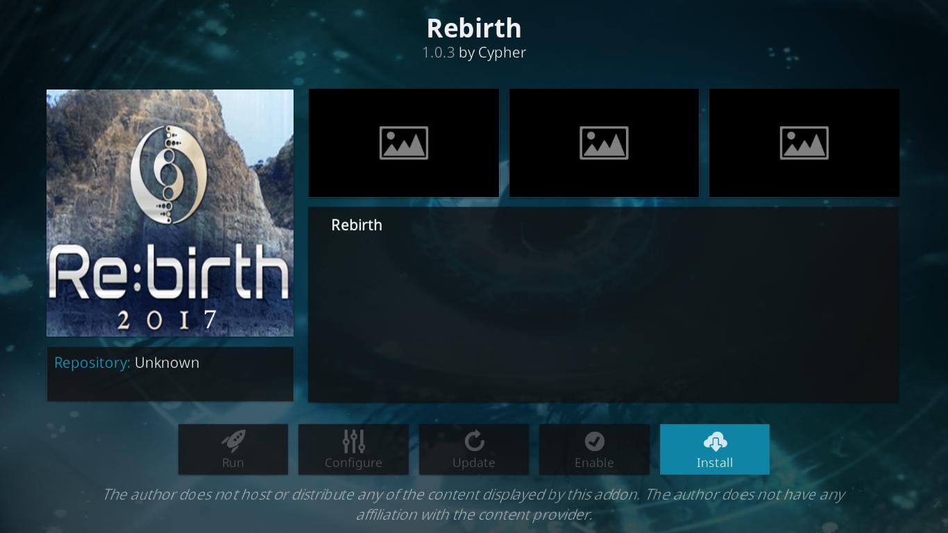 Rebirth info
