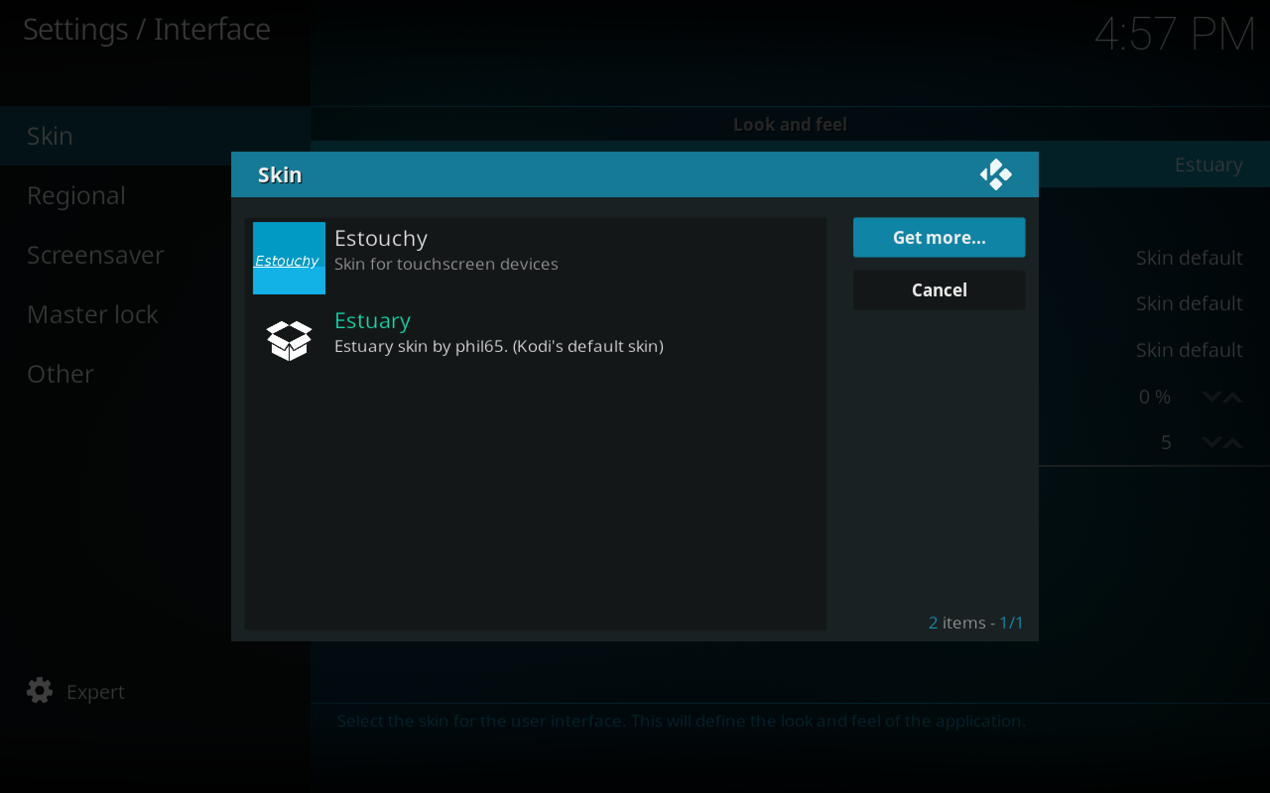 Install Confluence Kodi Skin