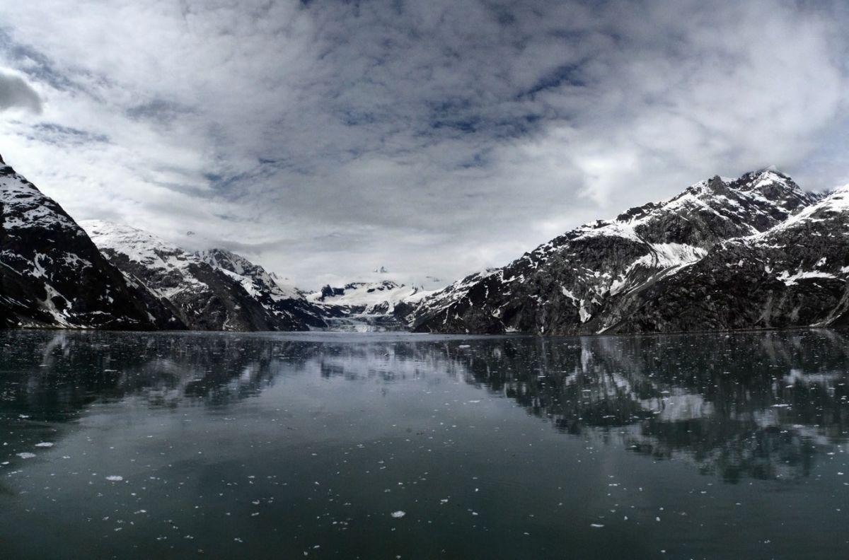 Snowy Mountain Lake Shore