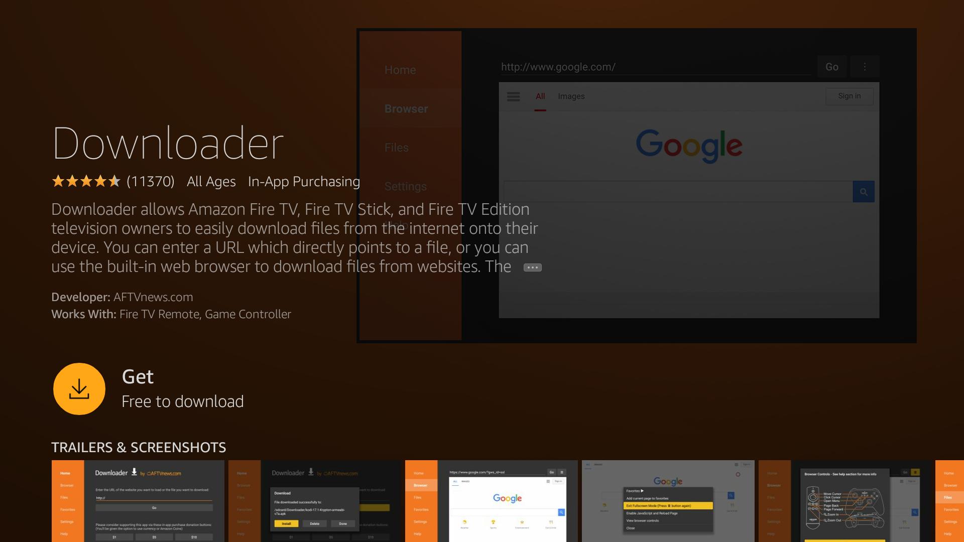 Update Kodi on Fire - Downloader app screenshot - 4