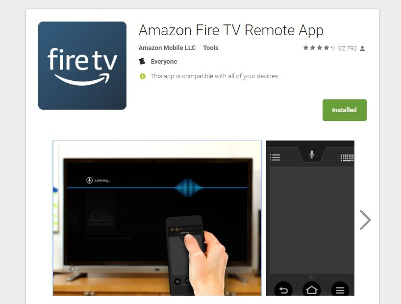 Use Phone as Fire TV Remote – Google Play Screen – 2