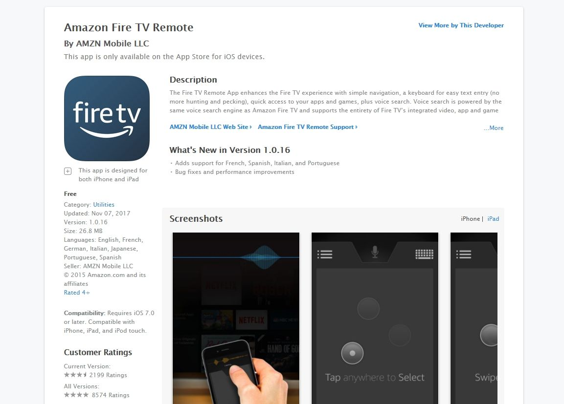 Use Phone as Fire TV Remote – iPhone Screen – 3