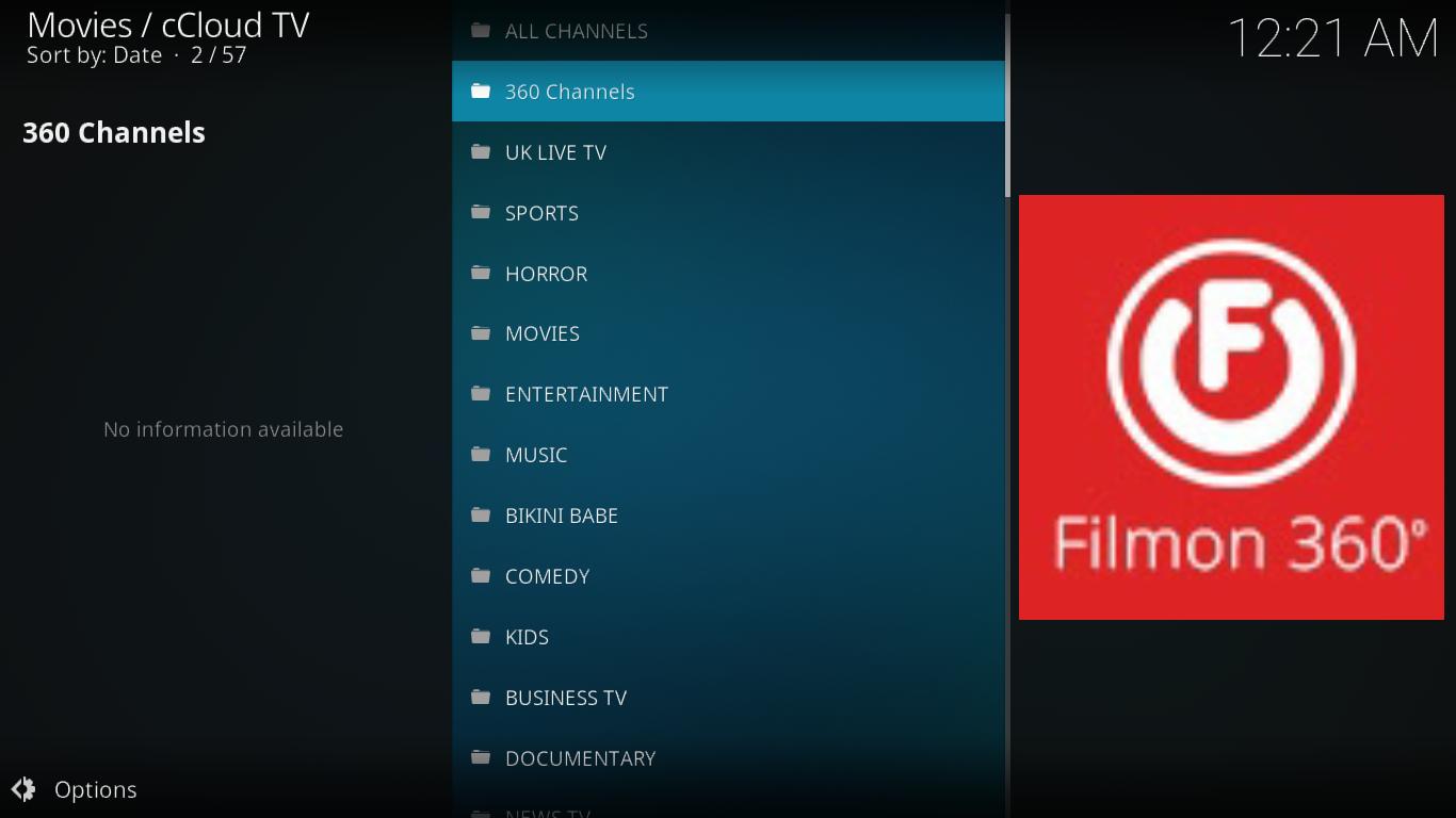 cCloud TV FilmOn Section
