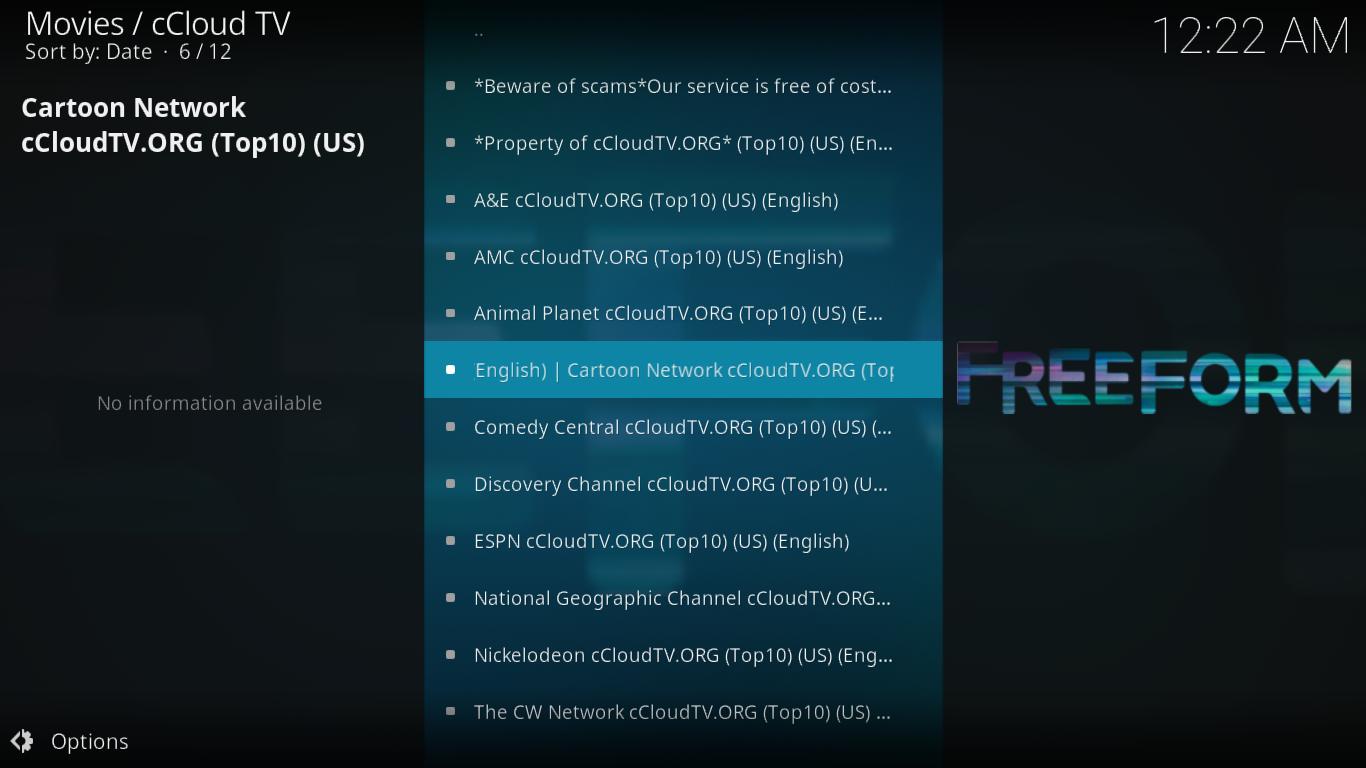 cCloud TV Top 10