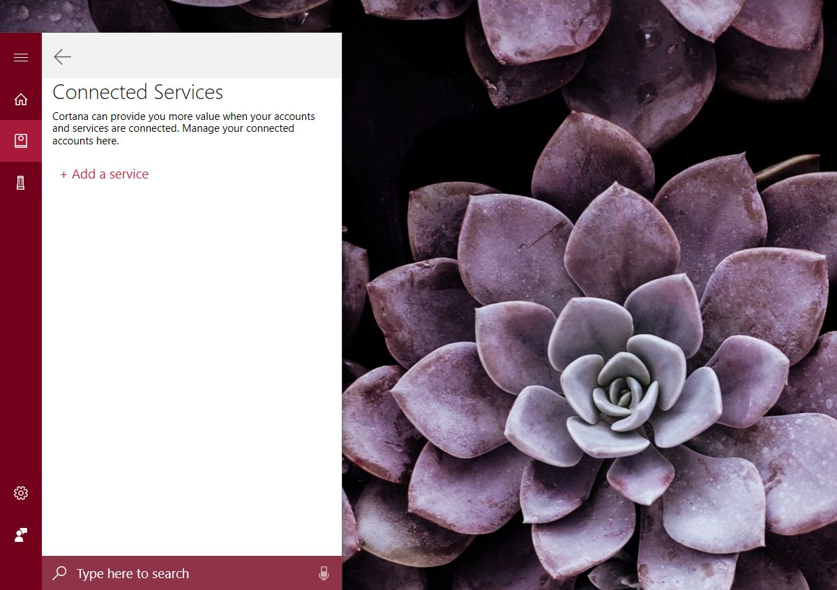 cortana connected services add