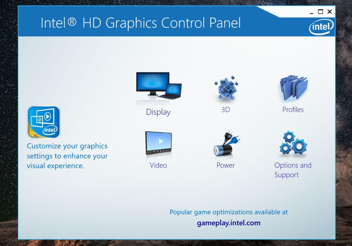 intel graphics display