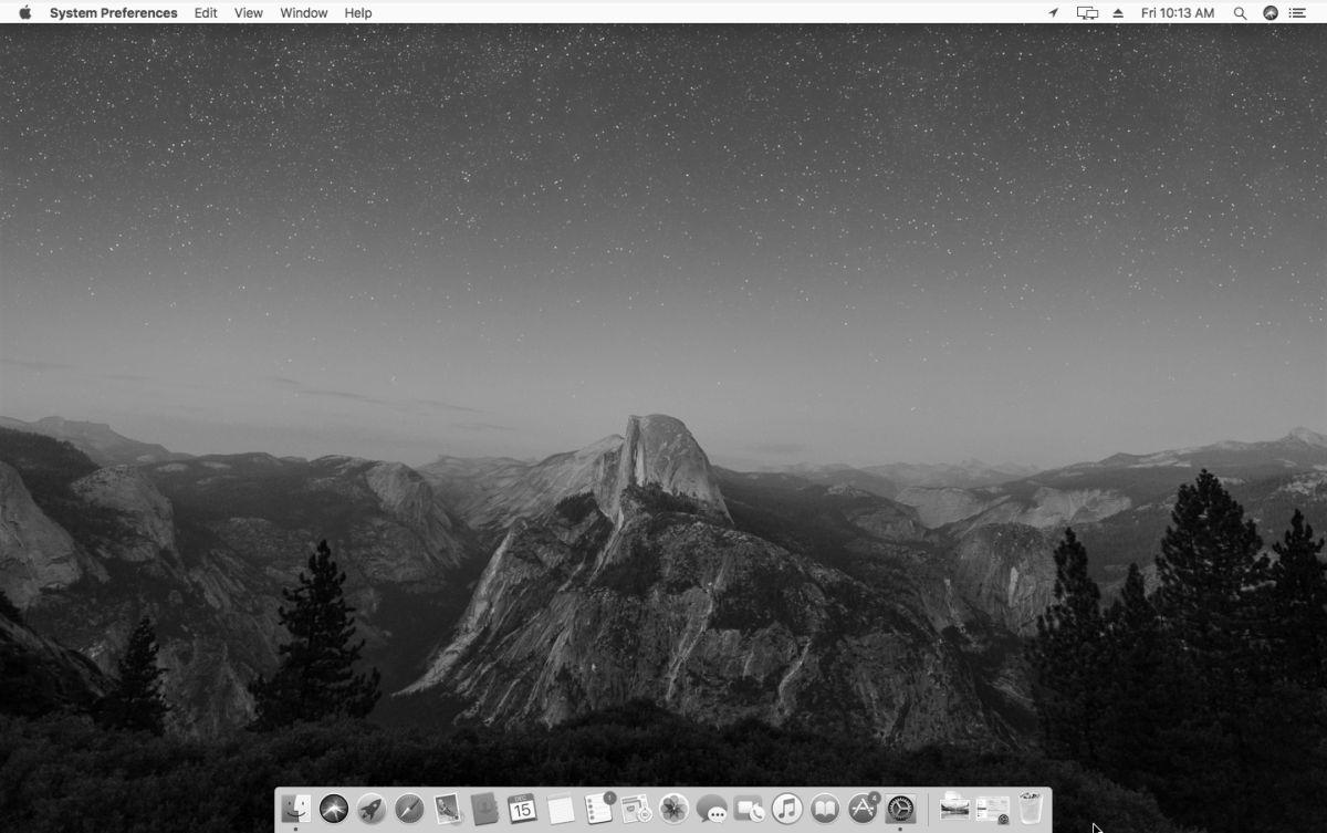 macOS black white