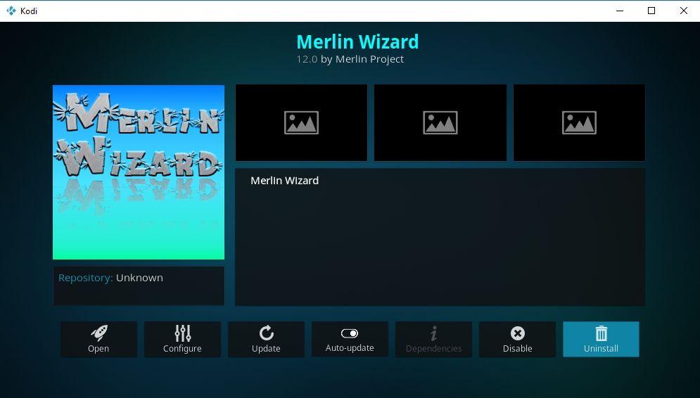 Best Kodi Wizard Addons 6 - Merlin Wizard for Kodi
