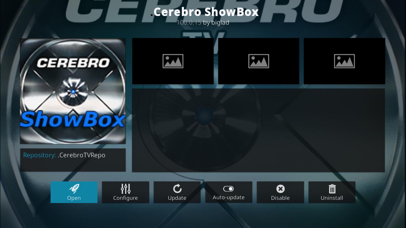 Cerebro Showbox Add-on Information