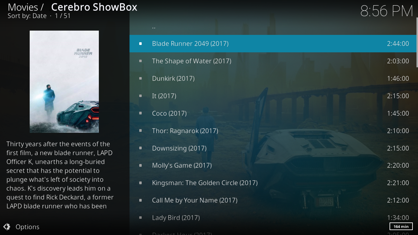 Cerebro Showbox Latest Movies