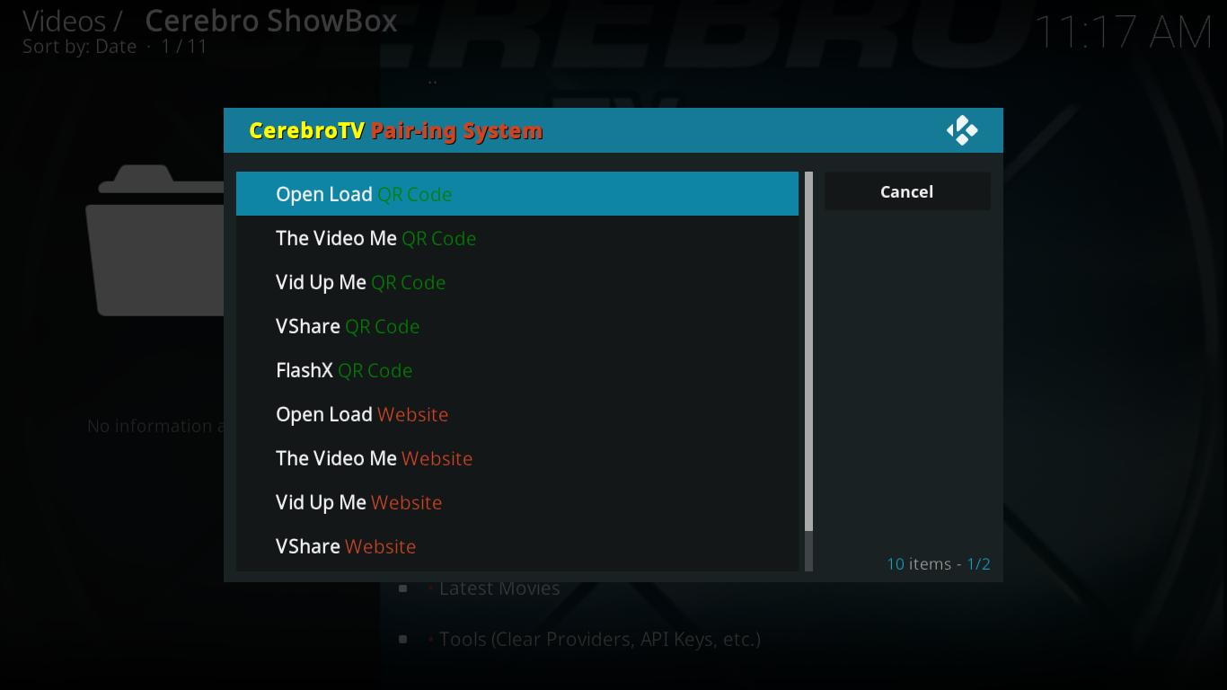 Cerebro Showbox Pairing